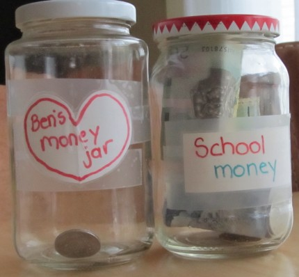 incentive money jar for children