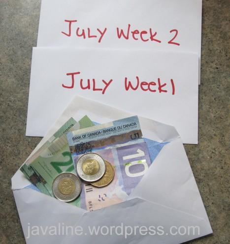 summer weekly cash budget