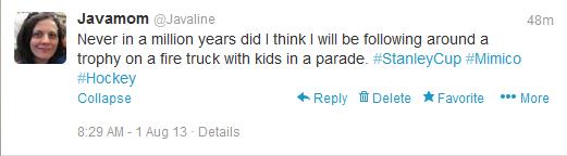 Stanley Cup tweet