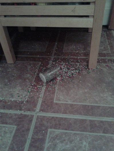 broken sprinkles jar